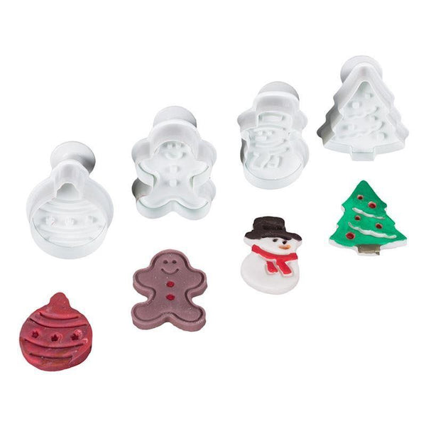 Christmas fondant / cookie plunger cutter set