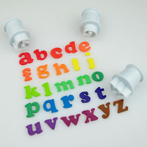 Small Lower case alphabet plunger cutter, +-26mm