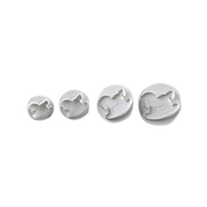 rocking horse Fondant plunger Cutter set of 4,