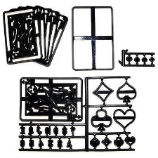 Poker cards silhouette Patchwork Embosser cutters