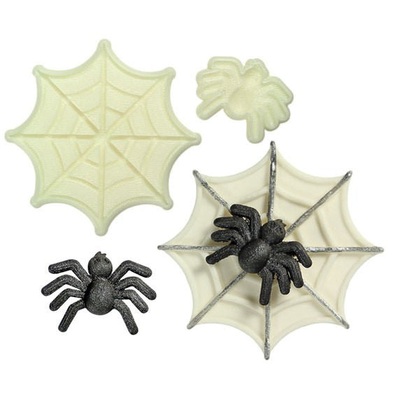 Spider and Web pop it cutter set