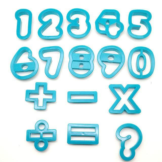 Numbers fondant/cookie cutters (3x4.7cm)