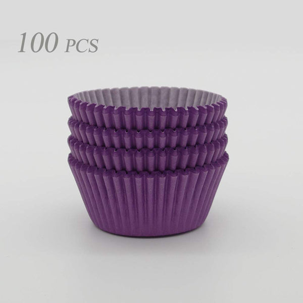 100 piece Purple Cupcake holders wrappers