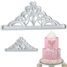 Tiara plastic fondant cutter, 2piece, (20cm and 8cm)