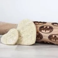 Embossing wooden rolling pin, Large, Batman