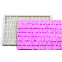 Ruffles impression silicone mould J, 14x9cm