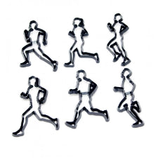 Running sport theme silhouette cutter set