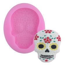 Skull silicone mould, 58mmx38mm