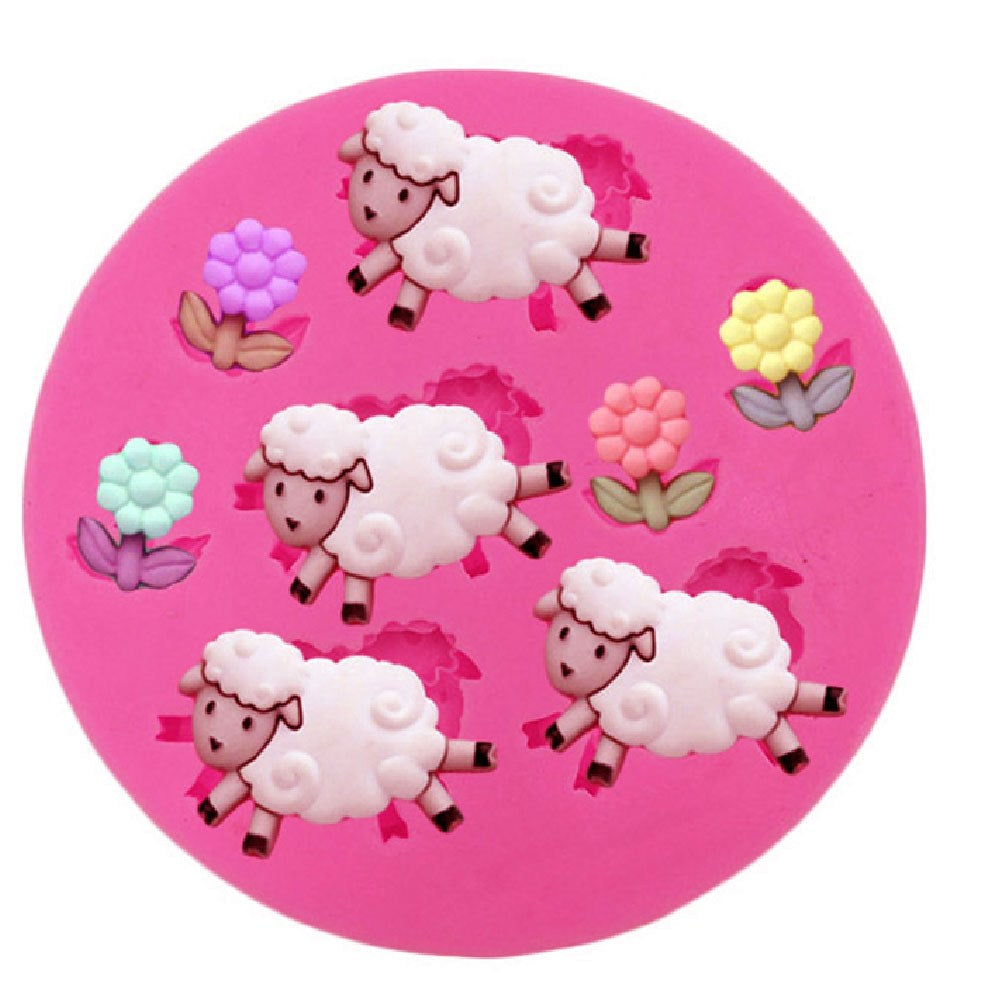 Sheep silicone mould, 2.5x2cm