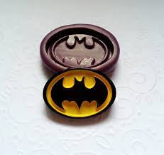 Batman silicone mould, for fondant, 45mm x24mm