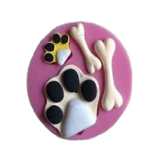 Silicone fondant dog bone and paw mold
