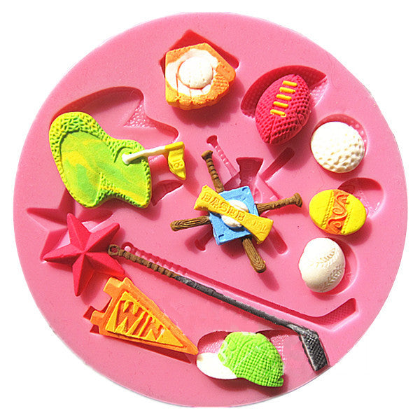 Silicone fondant / sugarpaste mould golf (sport), mould size 10cm