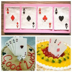 Silicone poker playing cards mold