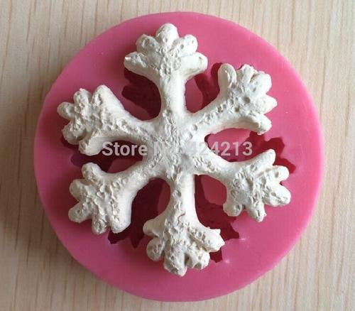 Snowflake fondant silicone mould, size of mould 6.5cm