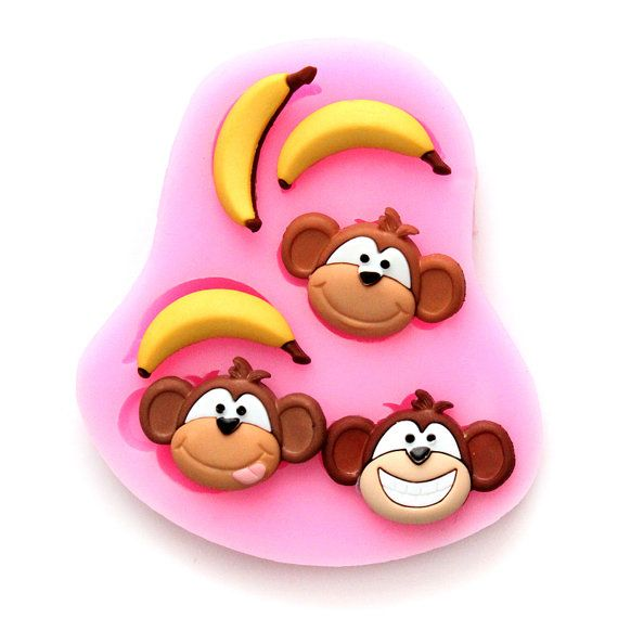 Monkey and banana silicone mould