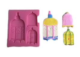 Birdcage silicone mould, for fondant, size of mould