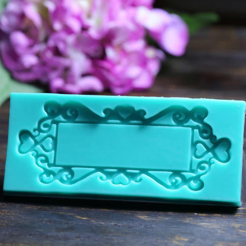 Frame silicone fondant Mould size of mould is 11x5.5cm