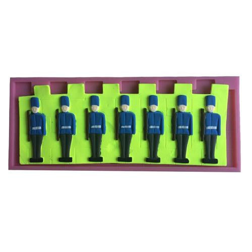 Fondant silicone mould Police men. size of mould 6.5x6.5cm
