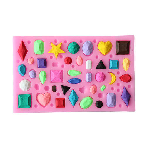 Silicone fondant Gem stones mould. size of mould12x7.5cm