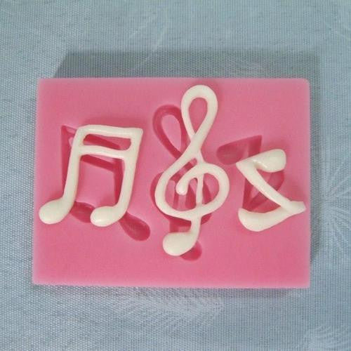 Silicone fondant mould music notes, size of moulds 6x4cm