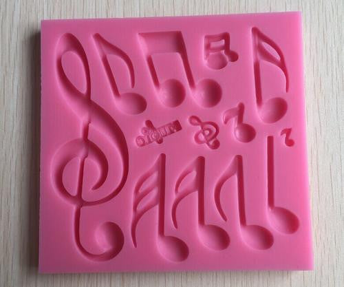 Silicone fondant mould Music notes, size of moulds 11.5x11cm