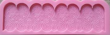 Silicone fondant mould Flower border mould. size of mould 16x4cm