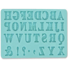 Alphabet Silicone fondant mould, size of mould 14x8cm
