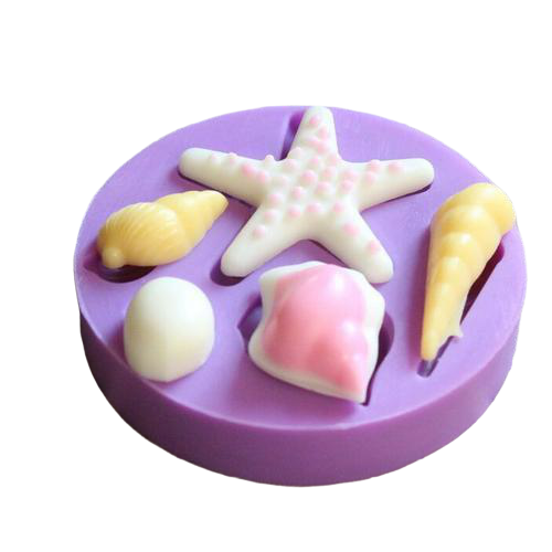 Nautical Shells Silicone fondant mould, size of Mould 6cm