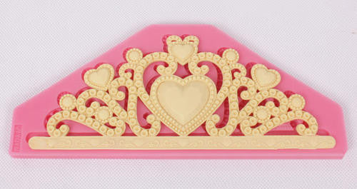 Crown Tiara silicone mould, for fondant, 17.5x7cm