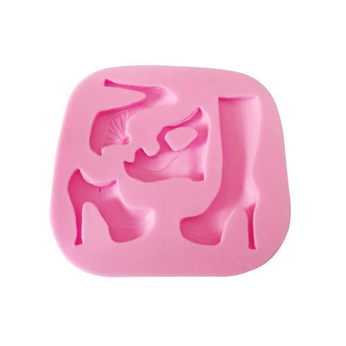 Shoes and boots silicone mould, for fondant, size of mould 8x7.5cm
