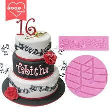 Music lace silicone mould for fondant, size of mould 19.5x5.5cm