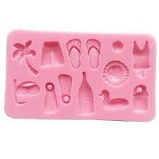 Silicone mould, beach, size of mould 10 x 6 cm