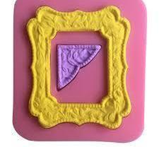 Photo Frame silicone mould, for fondant, size of mould 7x6.5cm