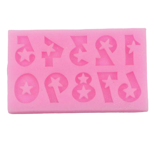 Number Silicone mould size of mould 7x4cm