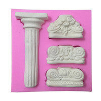 Silicone fondant mould Pillars, size of moulds 9.5x10cm