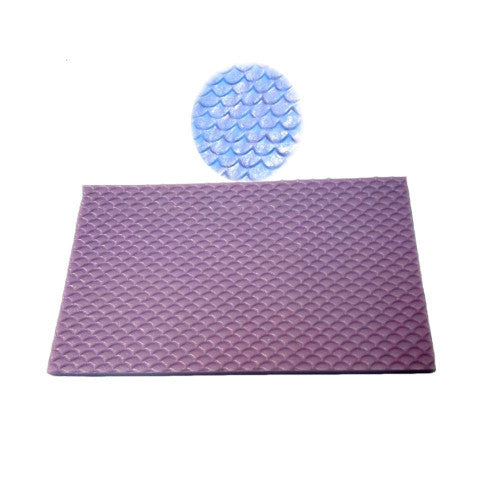 Nautical Fish Scale Impression Silicone mould, size of mould 14.5x8.5cm