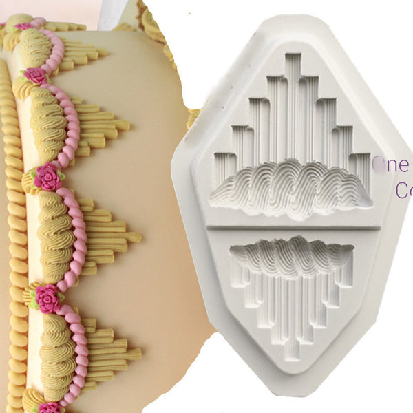 Piping Embellishment C silicone fondant mould