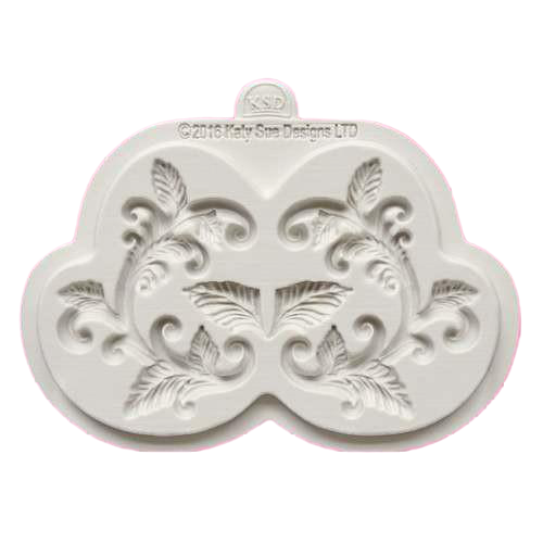 Leaves silicone mould, for fondant, size of mould 9.5x6cm