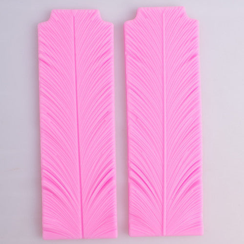 3D feather silicone fondant mould, 20x6.5cm Silicone