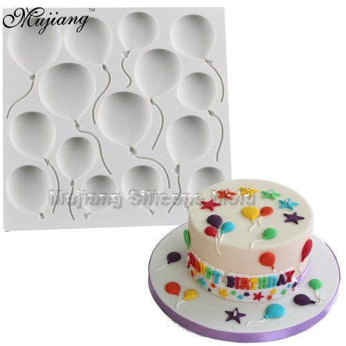 Balloon silicone fondant mould, size of mould 10cm