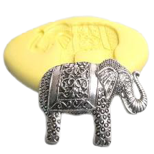 Elephant silicone mould, 5x3.5cm