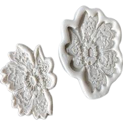 Lace Flower Border B silicone mould, 8x6cm
