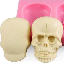 3D Skull silicone mould, 5.4x3.6cm