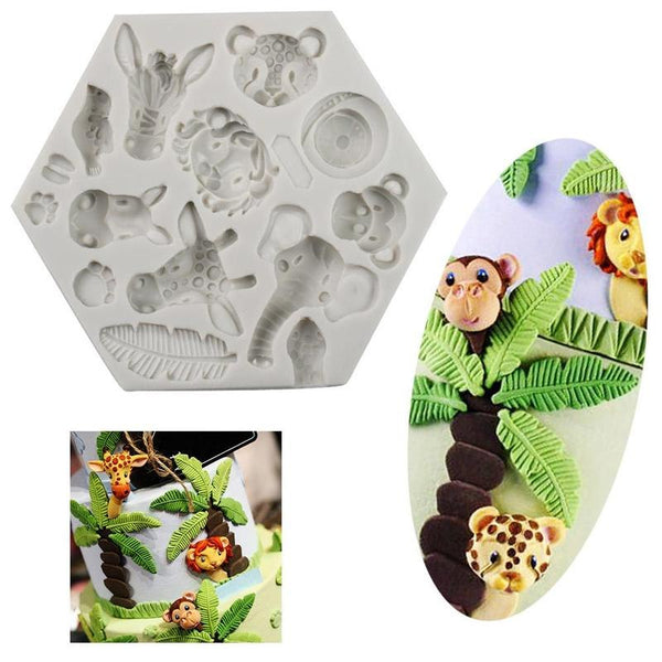 Wild jungle animals silicone mould