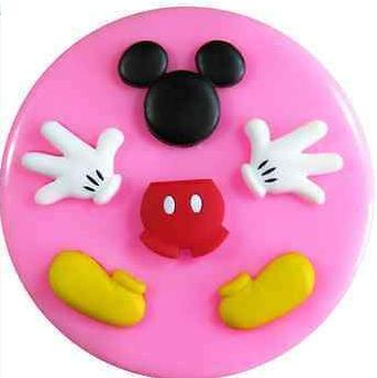 Mickey mouse silicone mould, face 2.7x2.4cm