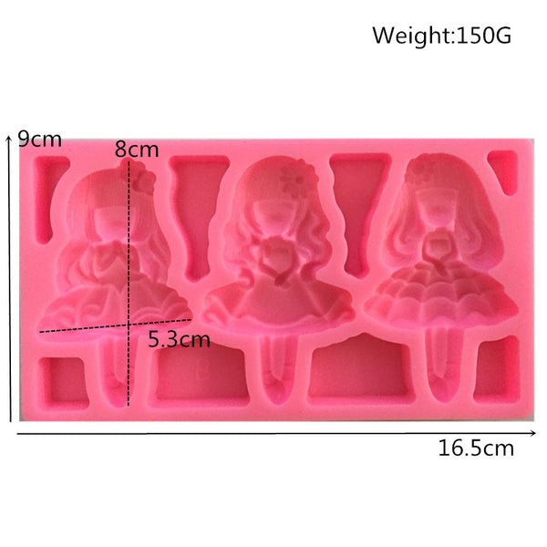 Ballerina dolls silicone mould