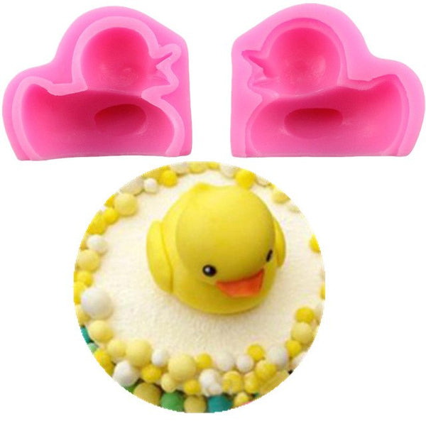3D rubber duck silicone mould, 4.5x3.7x5.3cm