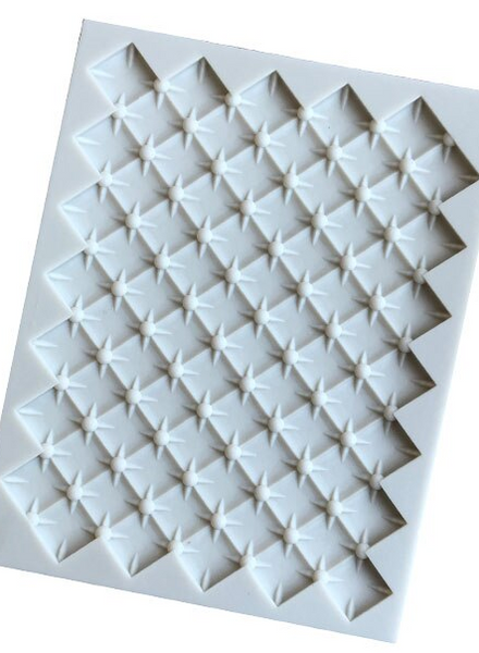 Large quilted pillow silicone mould, 17x12.5cm