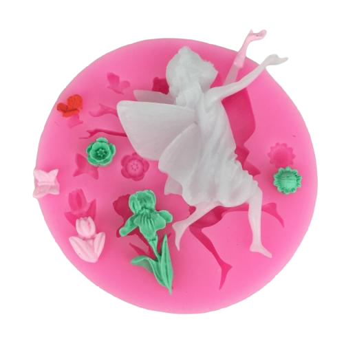 Angel Fairy dress silicone mould, fairy 6.5x5.2cm