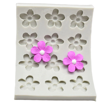 Blossom flowers silicone mould, 3cm